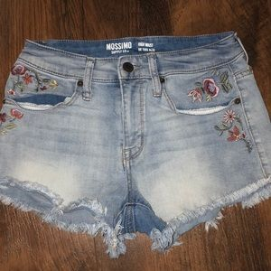 High waisted floral shorts!